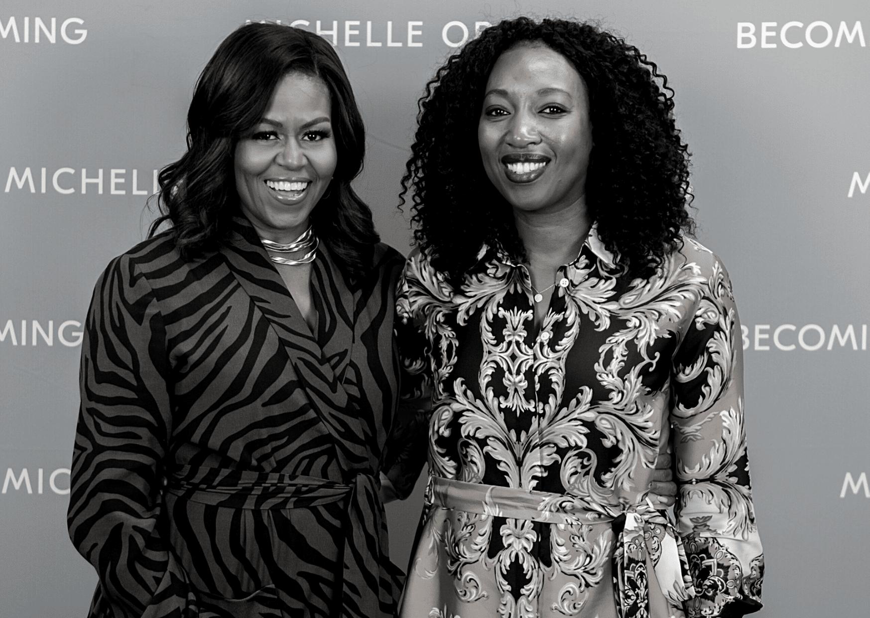 Leila Claassens en Michelle Obama